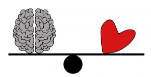 Doel van de psychologische behandeling is herstel van de balans tuseen ratio en gevoel